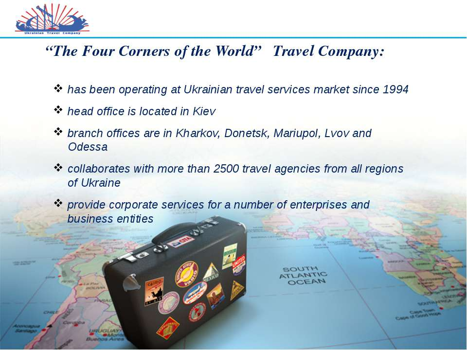 """The Four Corners of the World"" Travel Company: has been operating at Ukraini..."