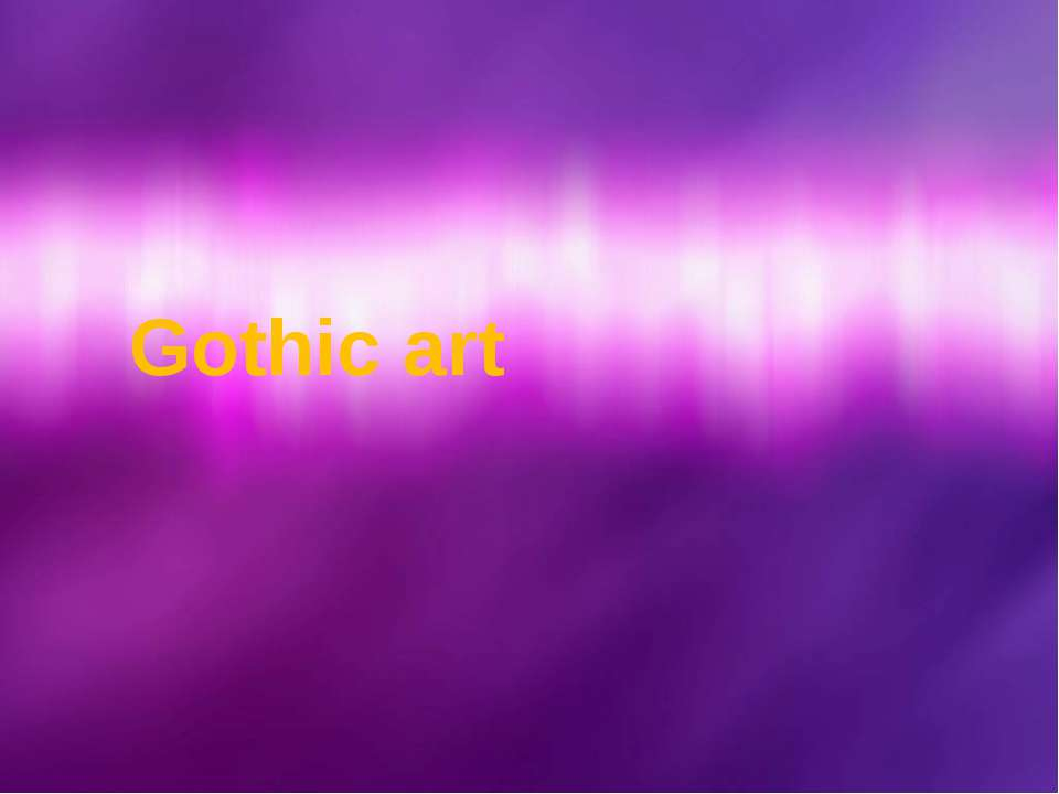 Gothic art © Корпорация Майкрософт (Microsoft Corporation), 2007. Все права з...