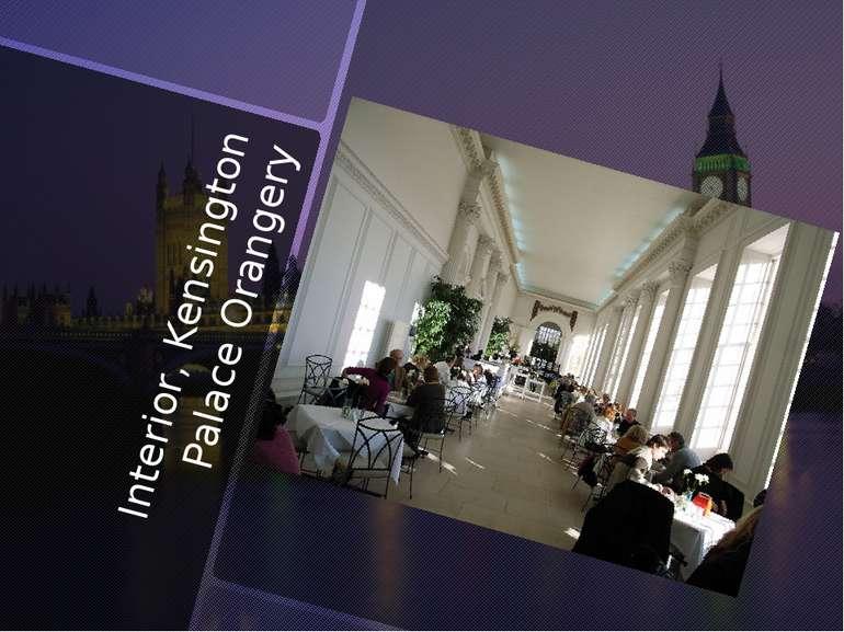Interior, Kensington Palace Orangery