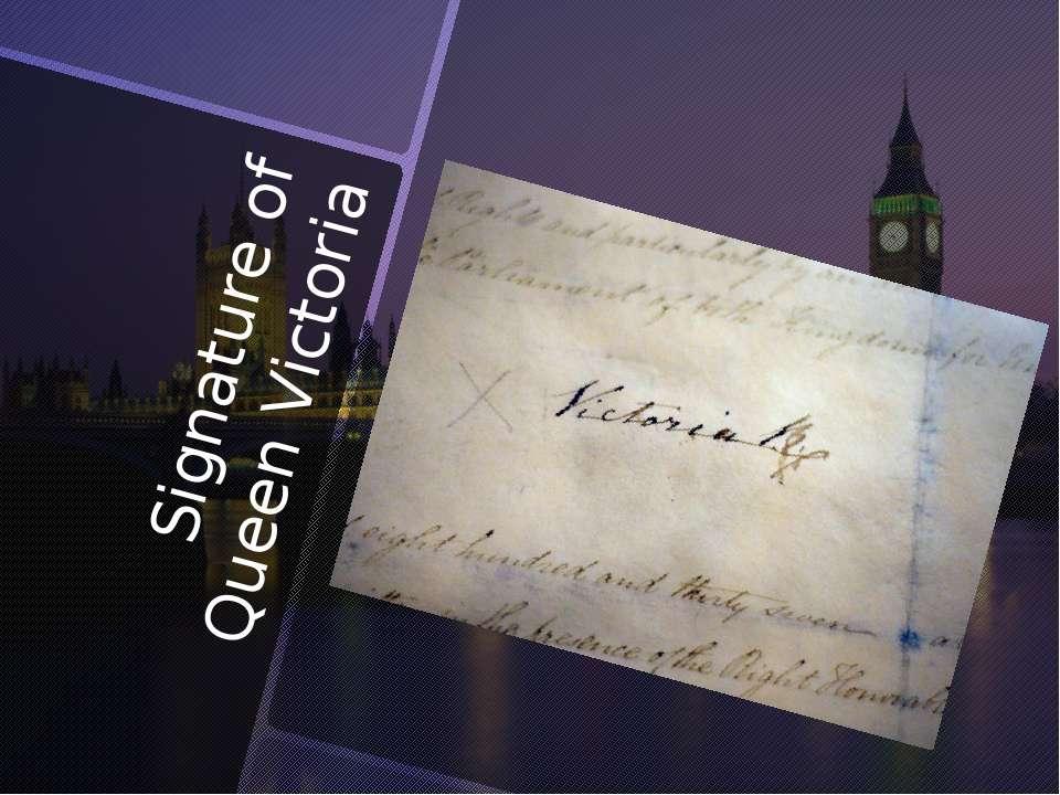 Signature of Queen Victoria