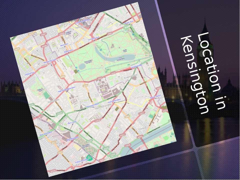 Location in Kensington