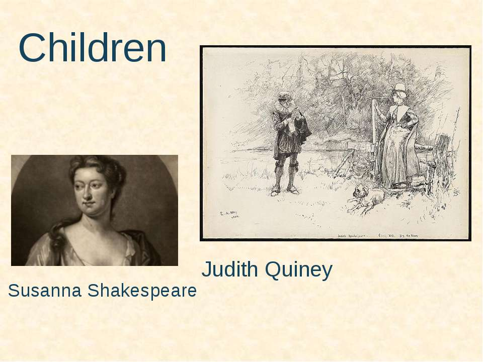 Children Susanna Shakespeare Judith Quiney