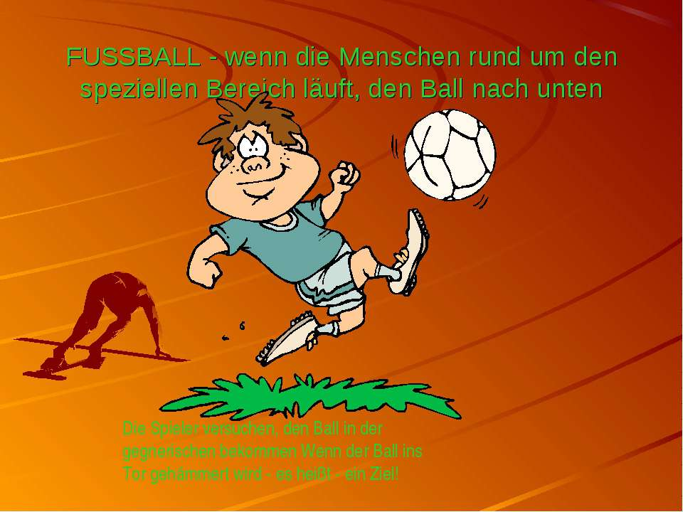 FUSSBALL - wenn die Menschen rund um den speziellen Bereich läuft, den Ball n...