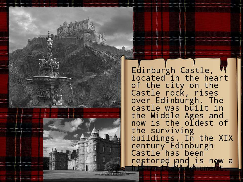 Edinburgh Castle, located in the heart of the city on the Castle rock, rises ...