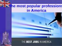 """The most popular professions in America"""