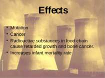 Effects Mutation Cancer Radioactive substances in food chain cause retarded g...
