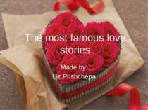 """The most famous love stories"""