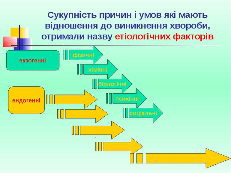 Сукупність причин і умов які мають відношення до виникнення хвороби, отримали...