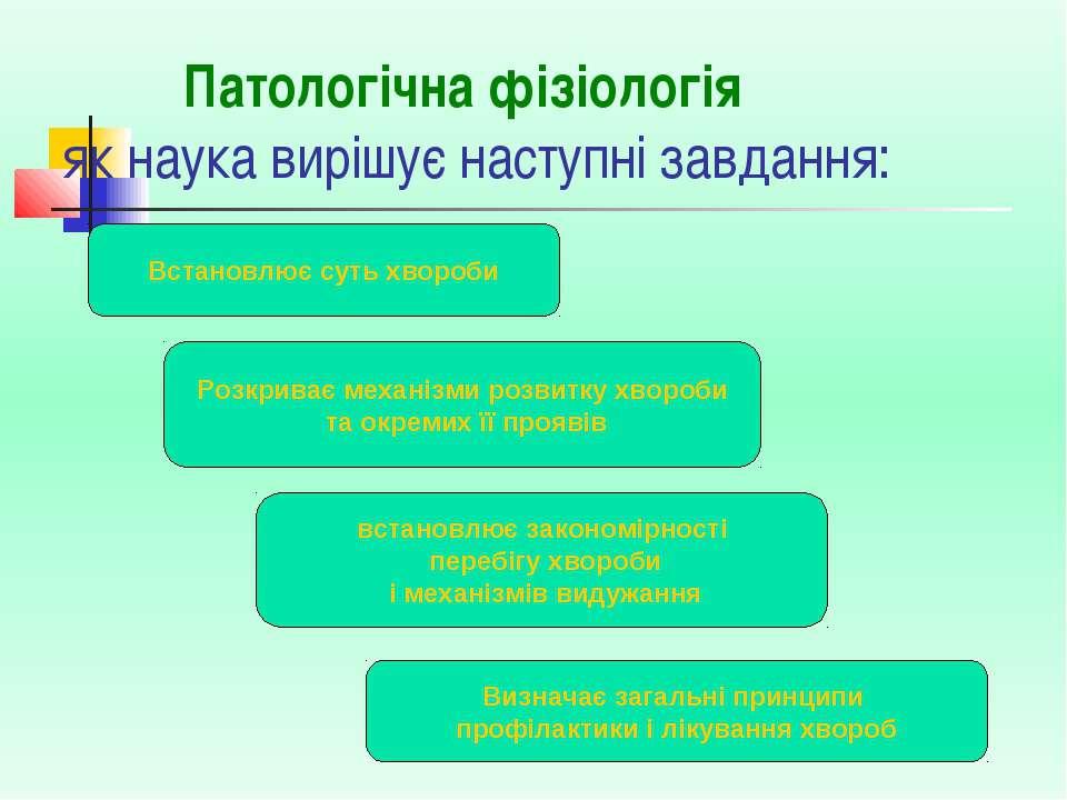 Патологічна фізіологія як наука вирішує наступні завдання: Розкриває механізм...