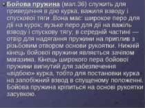 Бойова пружина (мал.36) служить для приведення в дію курка, важиля взводу і с...