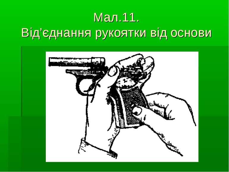Мал.11. Від'єднання рукоятки від основи