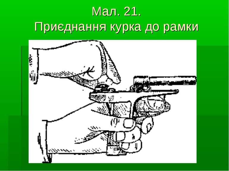 Мал. 21. Приєднання курка до рамки