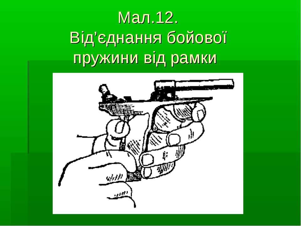 Мал.12. Від'єднання бойової пружини від рамки