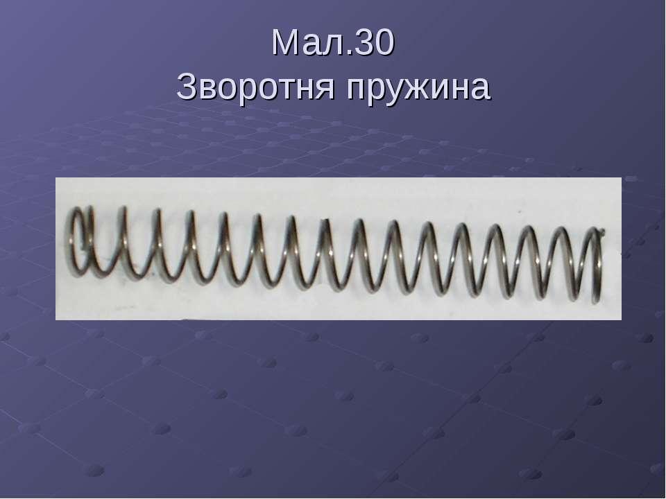 Мал.30 Зворотня пружина