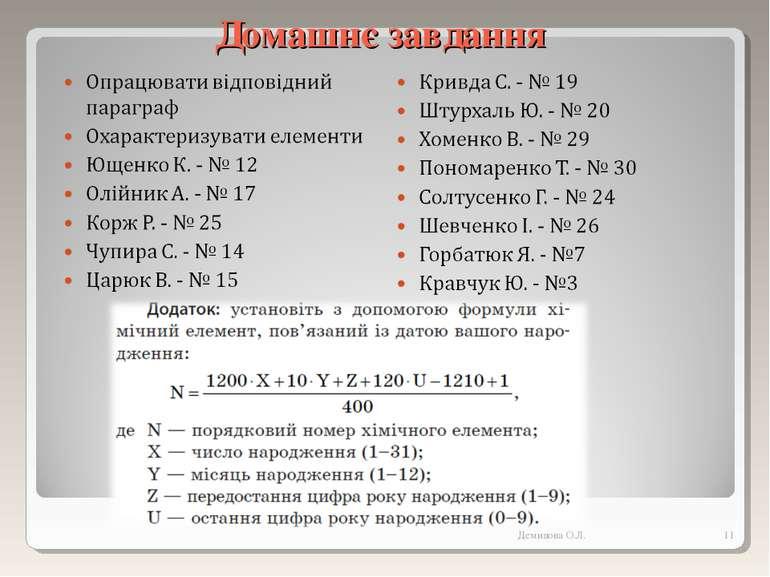 Домашнє завдання * Демидова О.Л. Демидова О.Л.