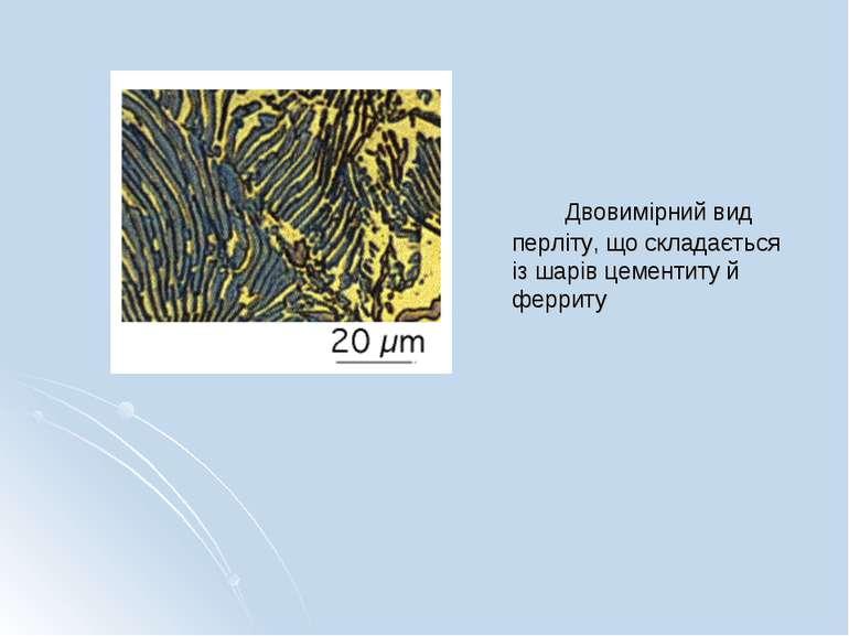 Двовимірний вид перліту, що складається із шарів цементиту й ферриту