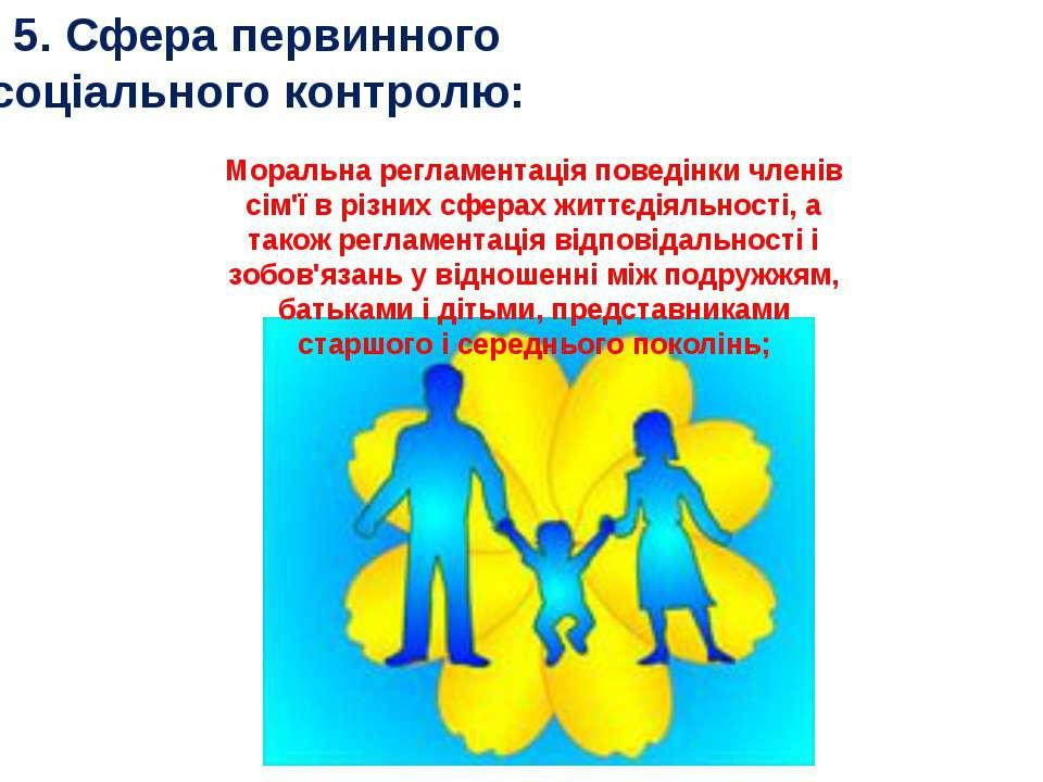 5. Сфера первинного соціального контролю: Моральна регламентація поведінки чл...