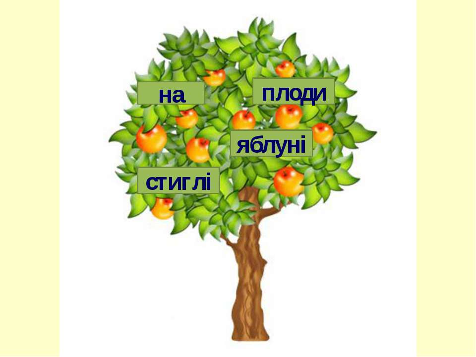 яблуні на стиглі плоди