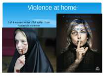 Violence at home 1 of 4 women in the USA suffer from husband's violence