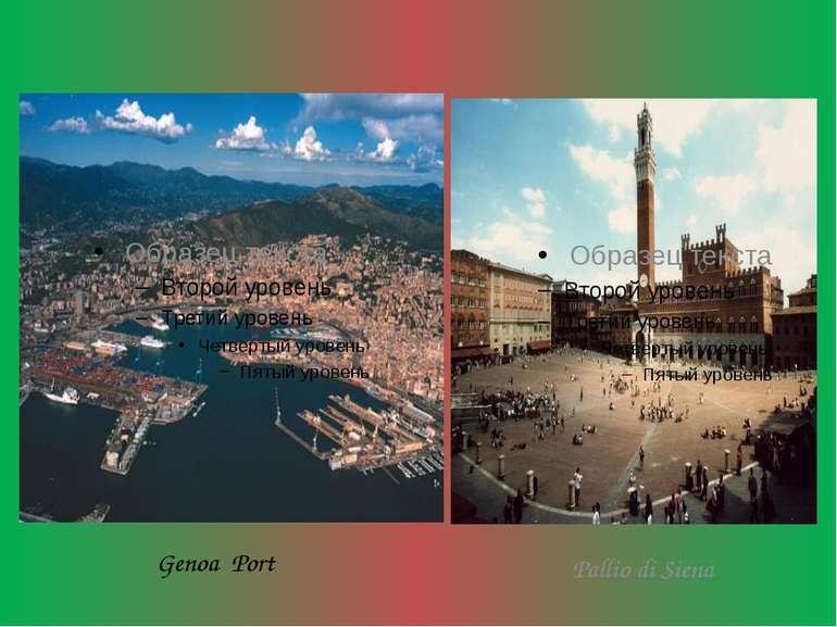 Genoa Port Pallio di Siena