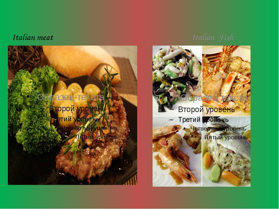 Italian meat Italian Fish