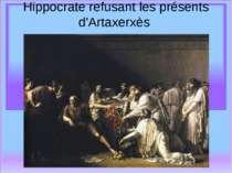 Hippocrate refusant les présents d'Artaxerxès