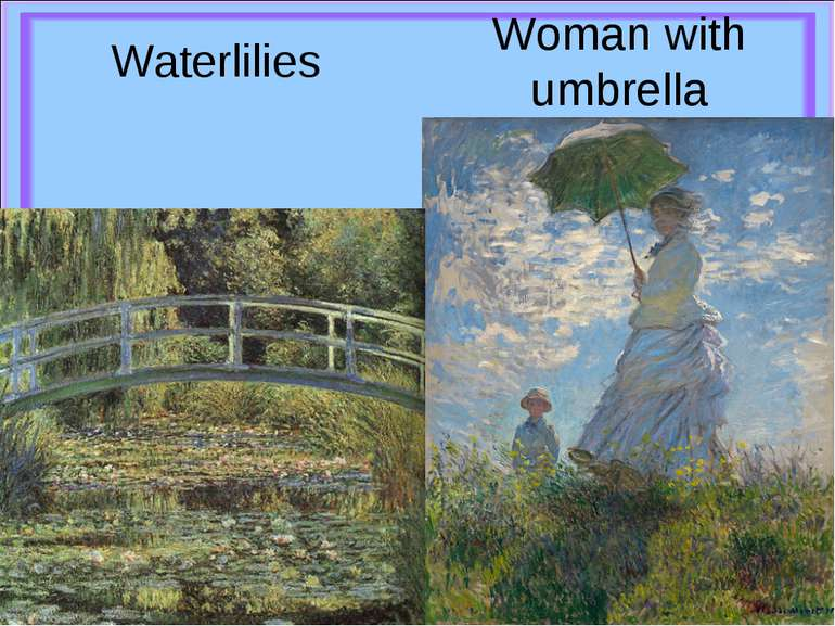 Woman with umbrella Waterlilies