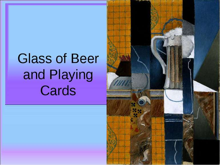 Glass of Beer and Playing Cards