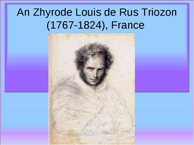 An Zhyrode Louis de Rus Triozon (1767-1824), France