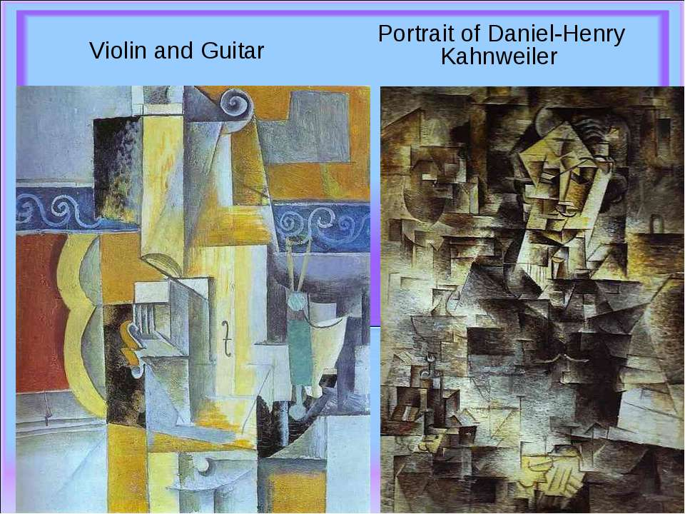 Violin and Guitar    Portrait of Daniel-Henry Kahnweiler