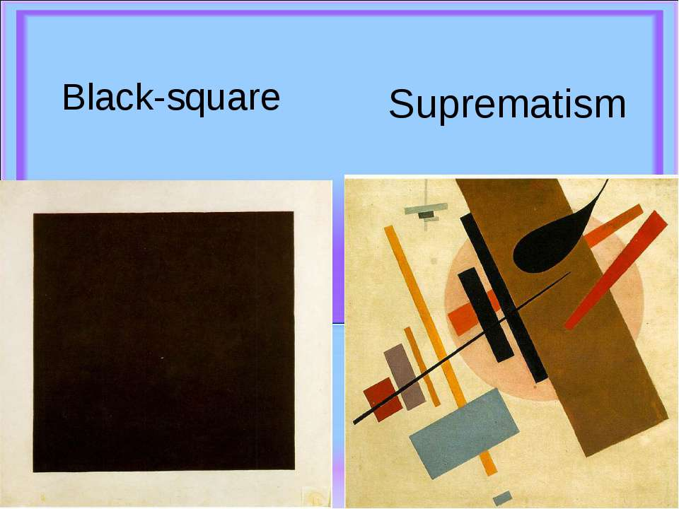 Black-square Suprematism