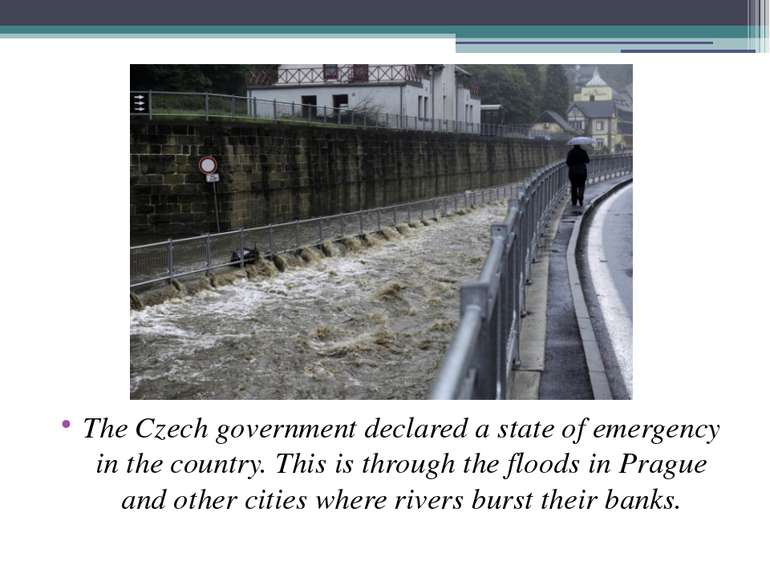 The Czech government declared a state of emergency in the country. This is th...
