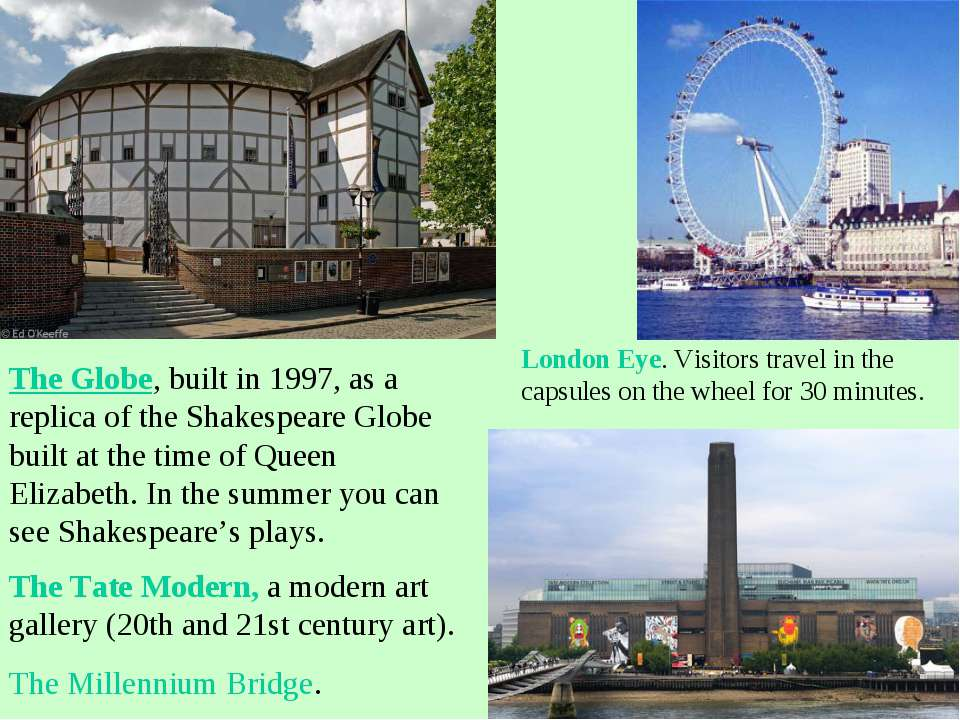 The Globe, built in 1997, as a replica of the Shakespeare Globe built at the ...