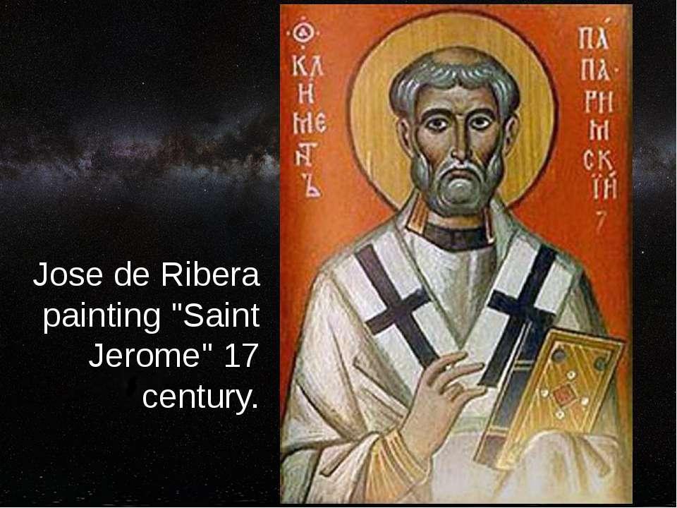 """Jose de Ribera painting """"Saint Jerome"""" 17 century."""