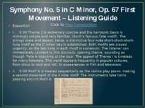 Symphony No. 5 in C Minor, Op. 67 First Movement – Listening Guide Exposition...