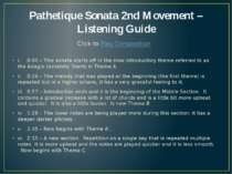 Pathetique Sonata 2nd Movement – Listening Guide i. 0:00 – This sonata starts...