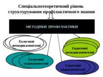 Спеціальнотеоретичний рівень структурування профілактичного знання     МЕ...