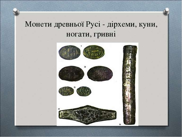 Монети древньої Русі - дірхеми, куни, ногати, гривні