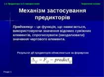 Результат дії предикторів обчислюється за формулою Теоретичні основи Розділ 1...
