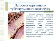 Загоєння первинного туберкульозного комплексу Загоєння первинного комплексу н...