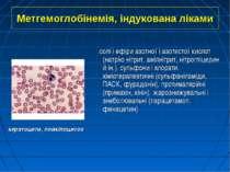 Метгемоглобінемія, індукована ліками солі і ефіри азотної і азотистої кислот ...