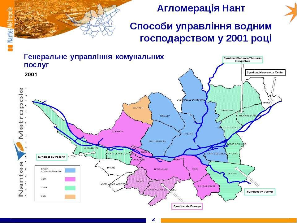 * Агломерація Нант Способи управління водним господарством у 2001 році Генера...