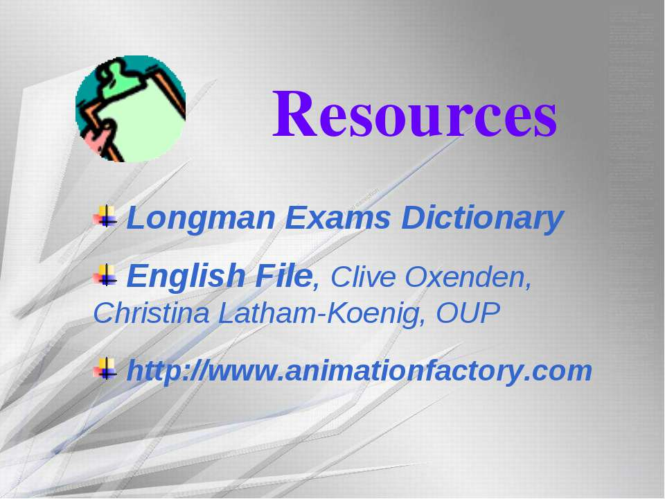 Resources Longman Exams Dictionary English File, Clive Oxenden, Christina Lat...