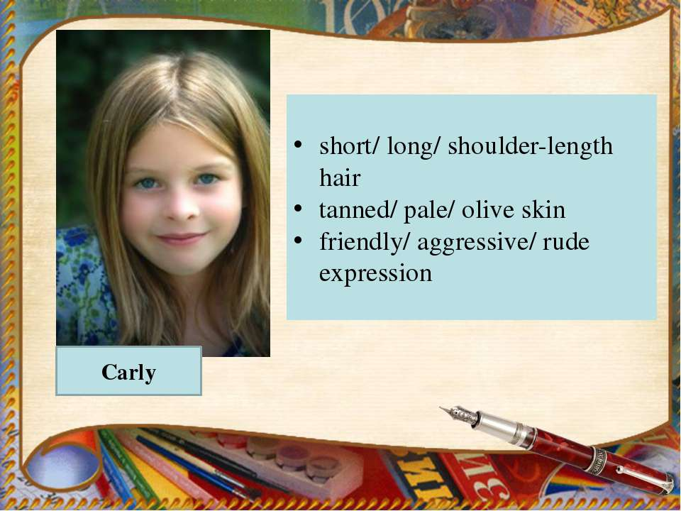 Carly short/ long/ shoulder-length hair tanned/ pale/ olive skin friendly/ ag...