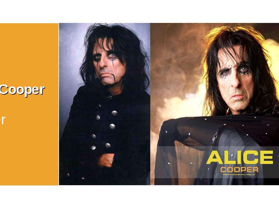 Alice Cooper singer