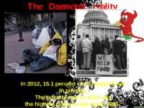 The Daemonic reality In 2012, 15.1 percent of all people lived in poverty. Th...