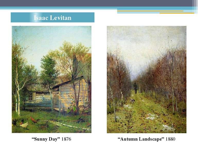 "Isaac Levitan ""Lake"" 1900. Oil on canvas ""Autumn Landscape"" 1880 ""Sunny Day"" ..."
