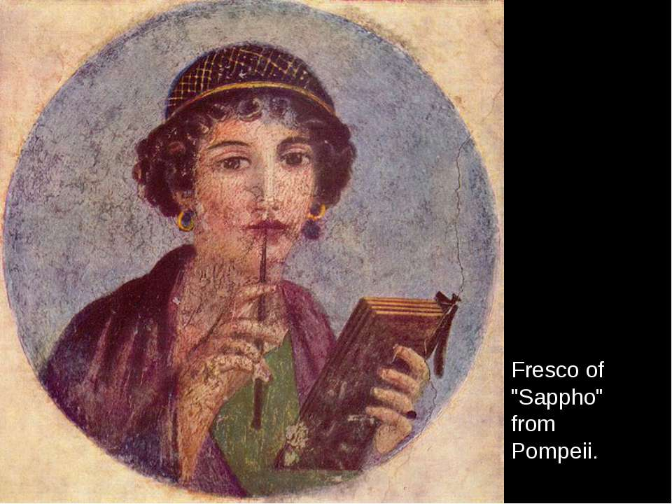 "Fresco of ""Sappho"" from Pompeii."
