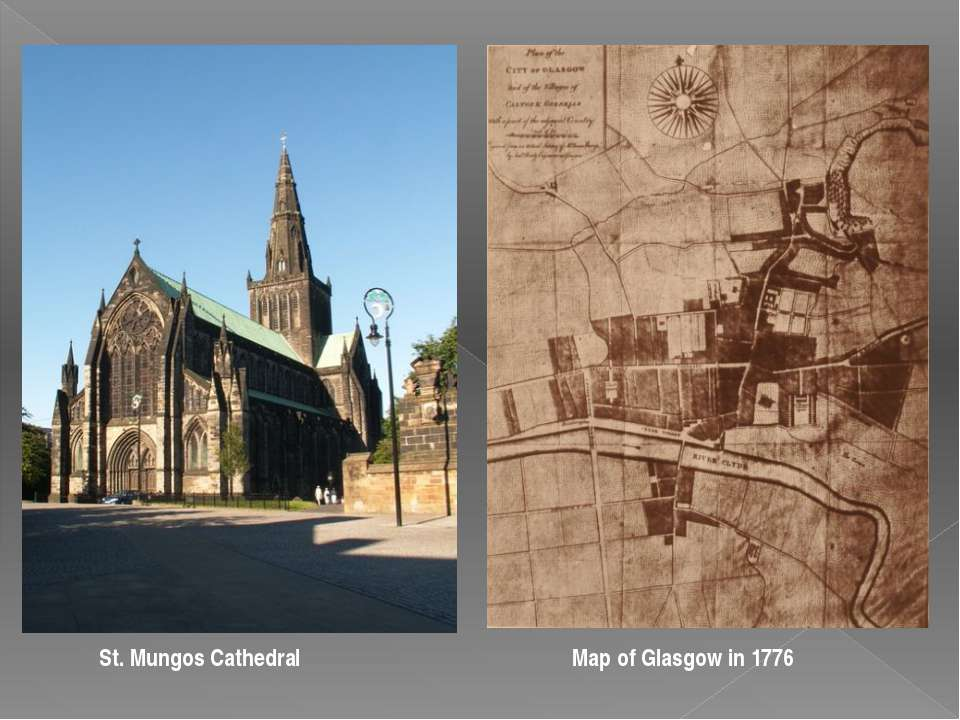 St. Mungos Cathedral Map of Glasgow in 1776