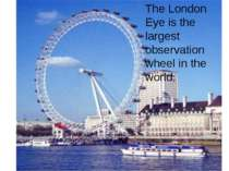 The London Eye is the largest observation wheel in the world.